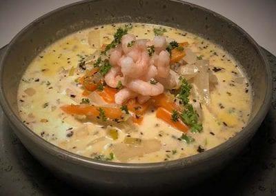 Storhavet Kafé's fish soup